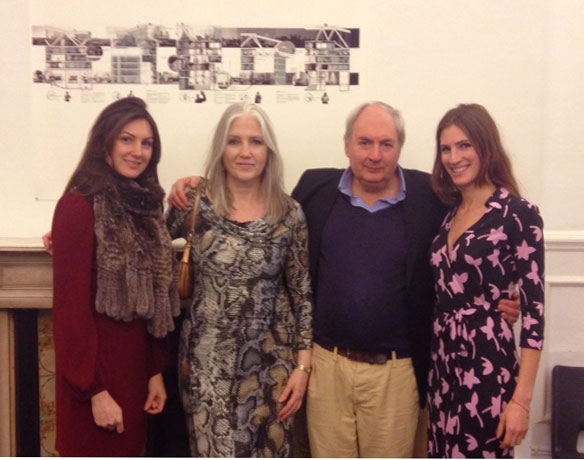 Pozner Family at Pozner Prize private view 2013